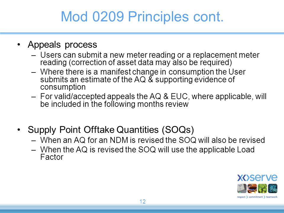 Mod 0209 Principles cont. Appeals process
