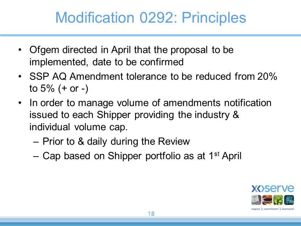 Modification 0292: Principles