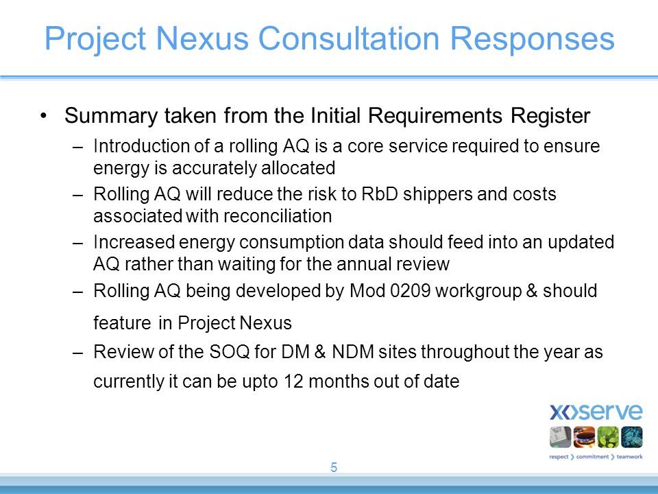 Project Nexus Consultation Responses