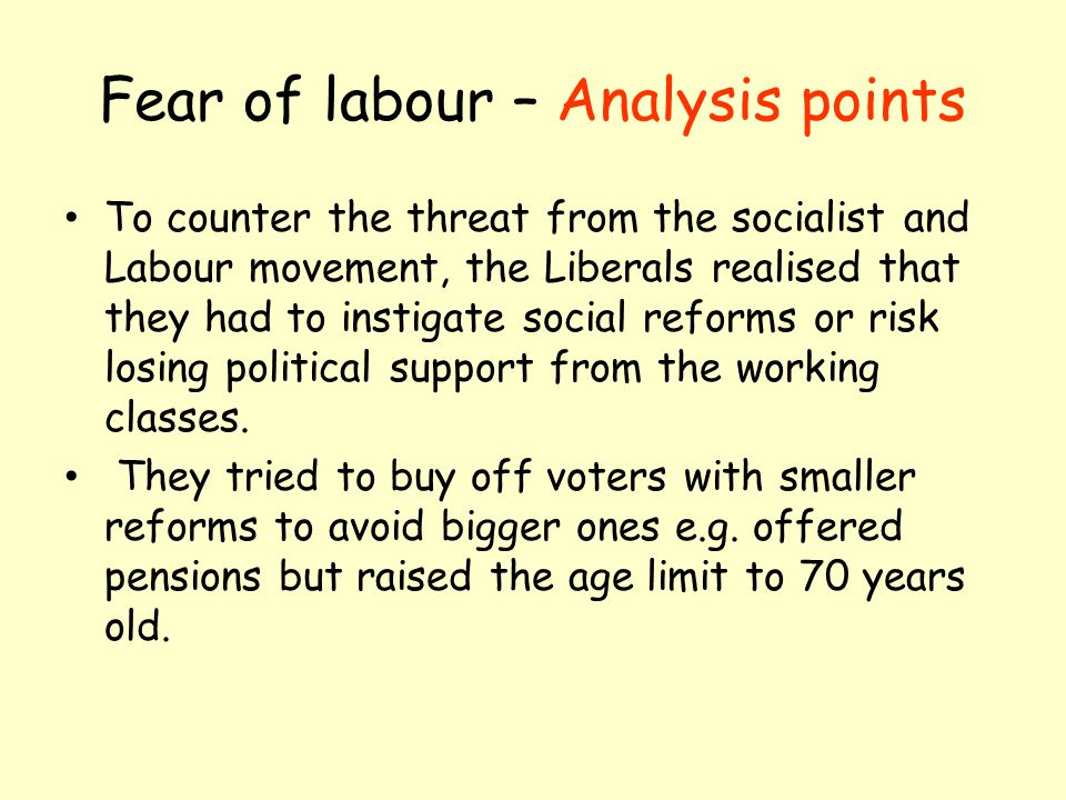 Fear of labour – Analysis points