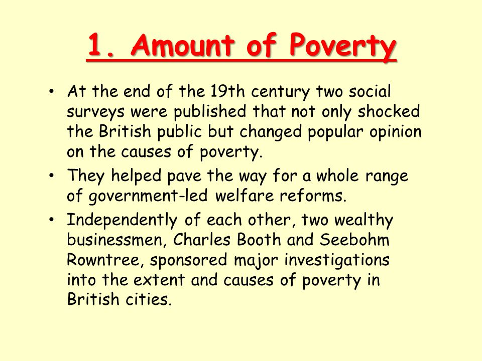 1. Amount of Poverty
