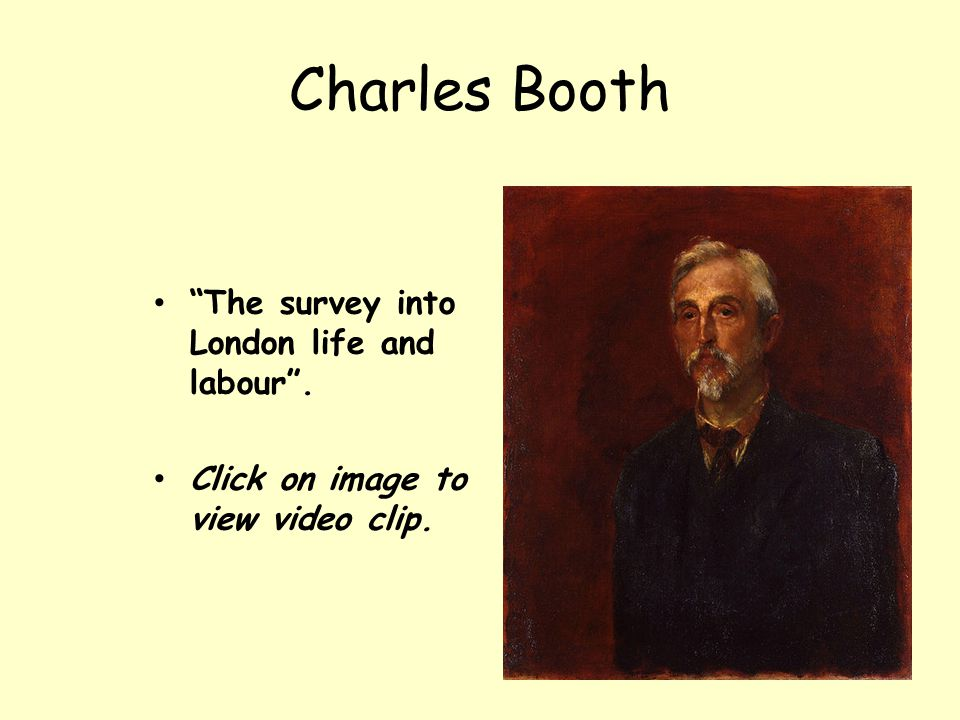 Charles Booth The survey into London life and labour .