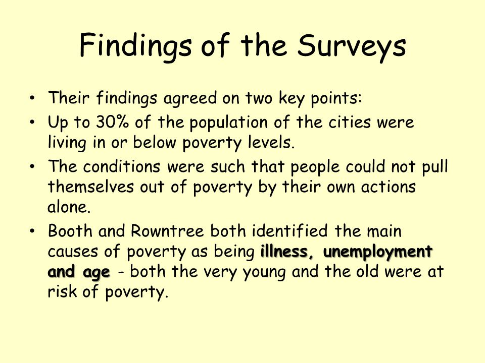 Findings of the Surveys