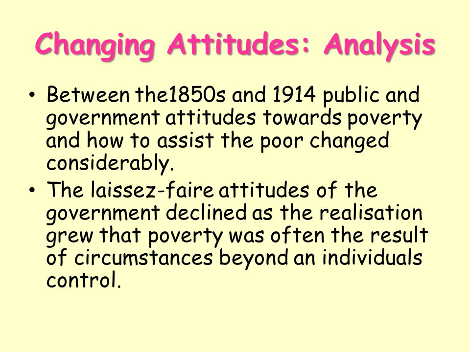 Changing Attitudes: Analysis