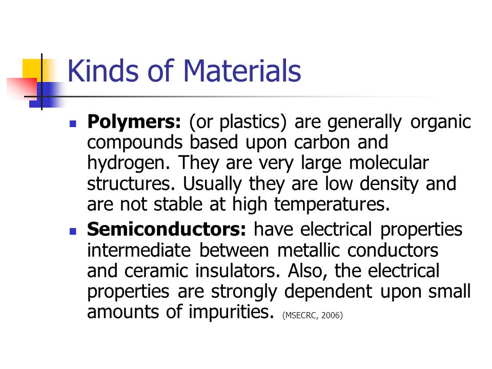 Kinds of Materials