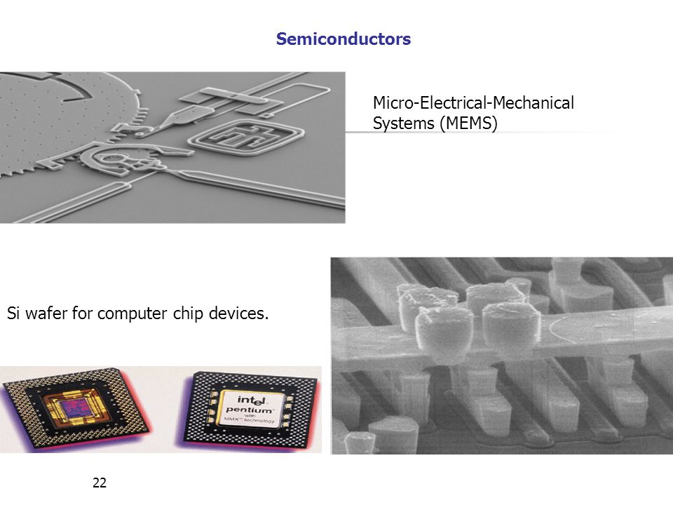 Semiconductors Micro-Electrical-Mechanical Systems (MEMS) Si wafer for computer chip devices.