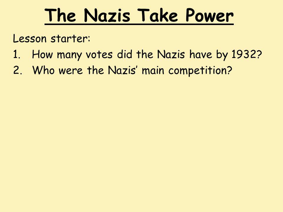 The Nazis Take Power Lesson starter:
