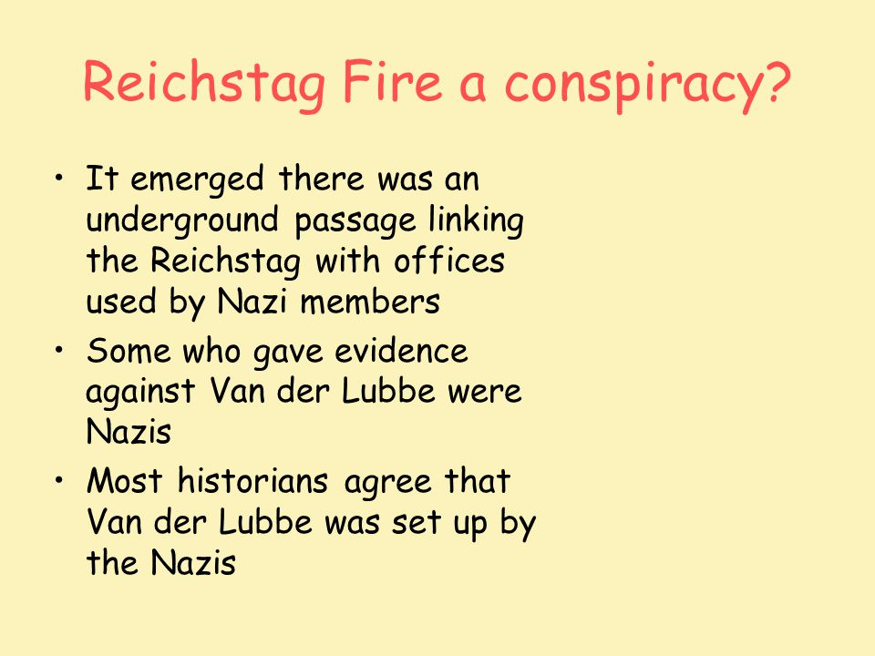 Reichstag Fire a conspiracy