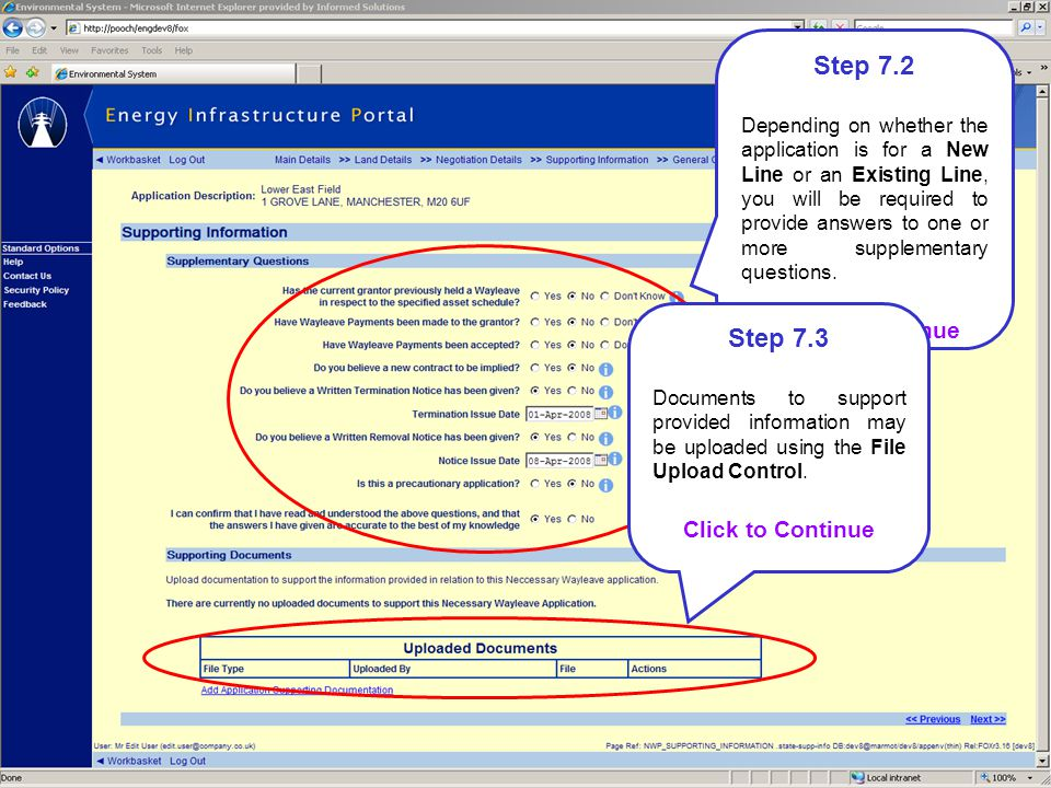 Step 7.2 Step 7.3 Click to Continue Click to Continue