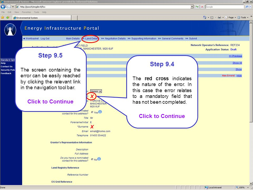 Step 9.5 Step 9.4 Click to Continue Click to Continue