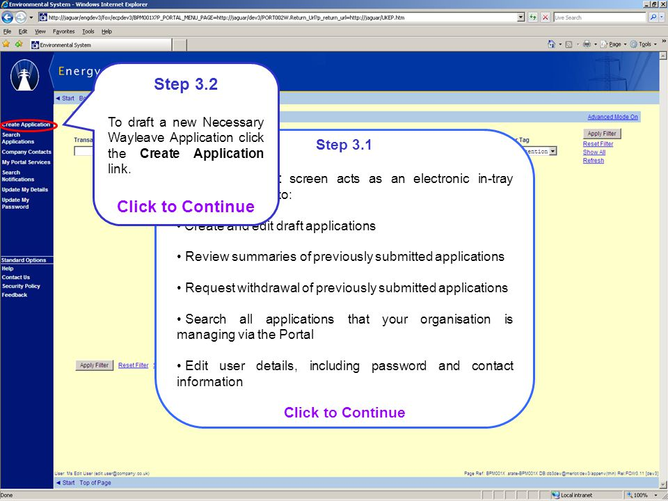 Step 3.2 Click to Continue Step 3.1 Click to Continue