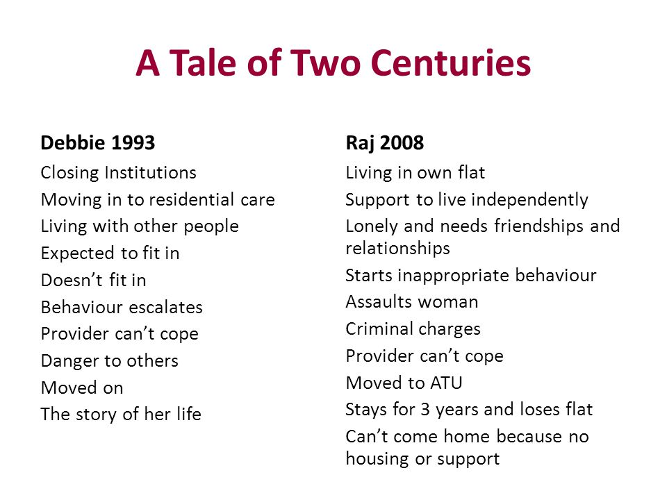 A Tale of Two Centuries Debbie 1993 Raj 2008