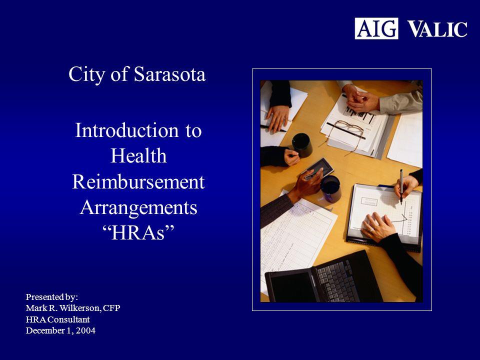 Introduction to Health Reimbursement Arrangements HRAs