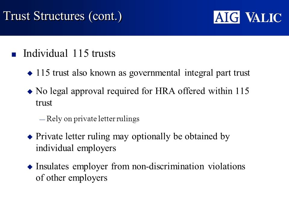 Trust Structures (cont.)