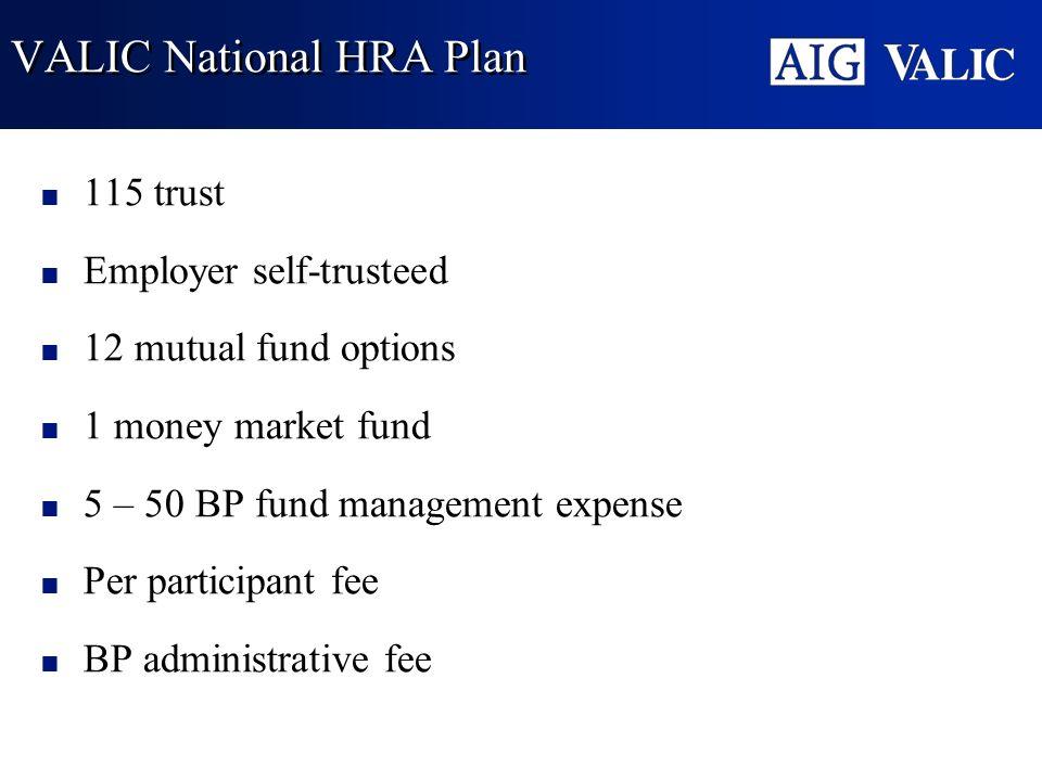 VALIC National HRA Plan