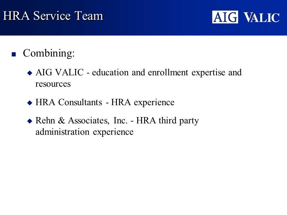 HRA Service Team Combining: