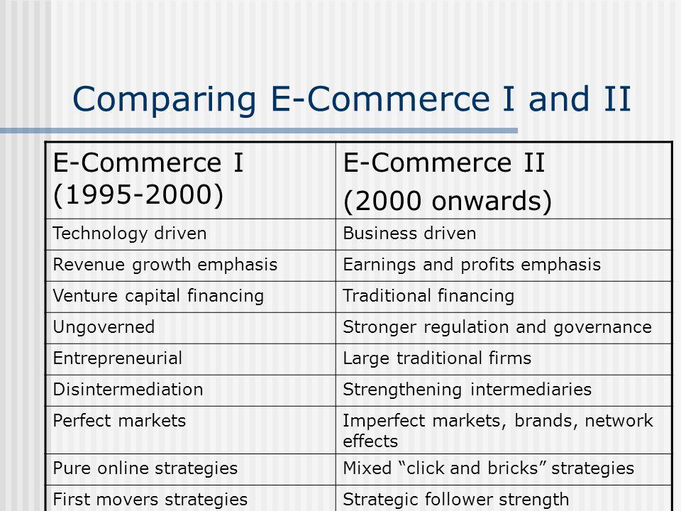 Comparing E-Commerce I and II
