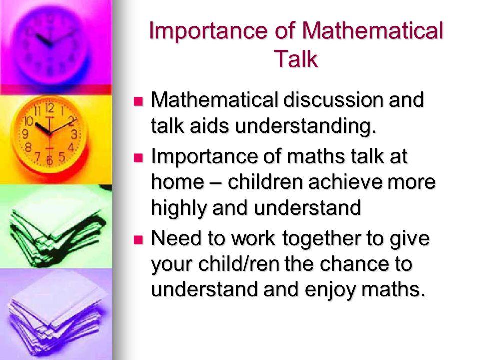 Importance of Mathematical Talk