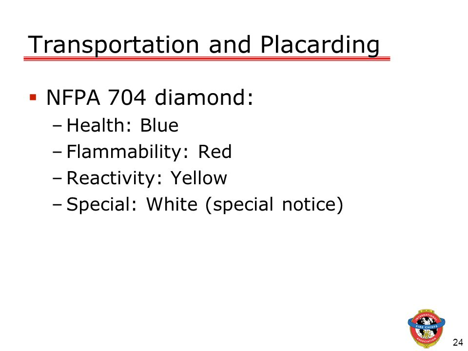 Transportation and Placarding