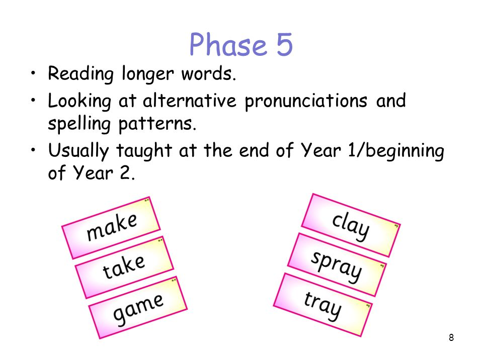 Phase 5 Reading longer words.