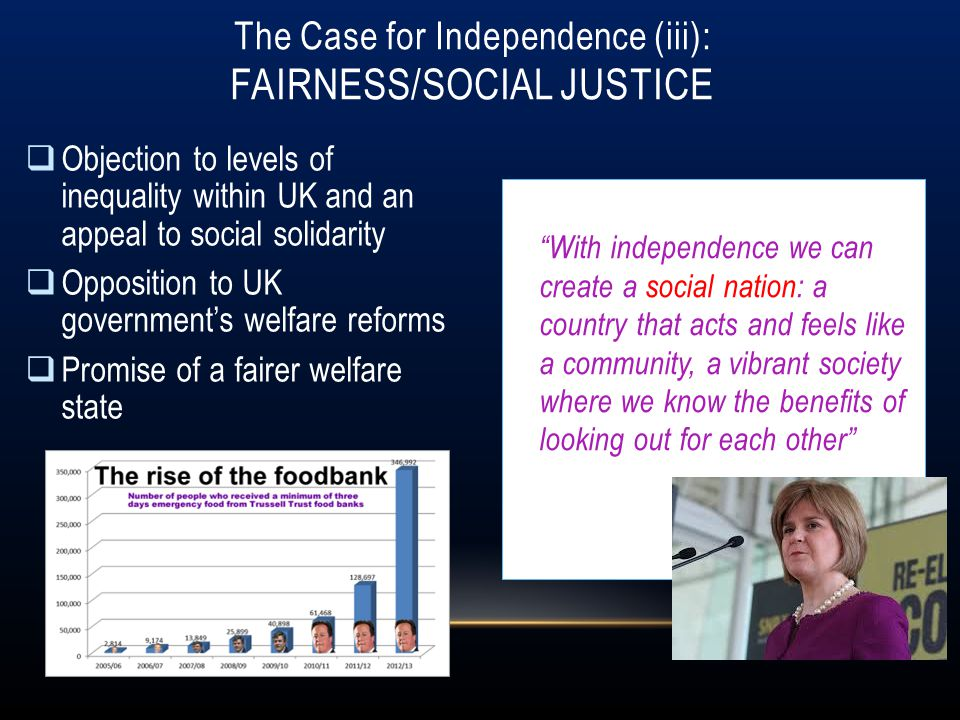 The Case for Independence (iii): Fairness/Social Justice