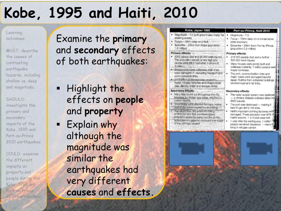 Kobe, 1995 and Haiti, 2010