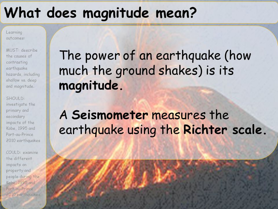 What does magnitude mean