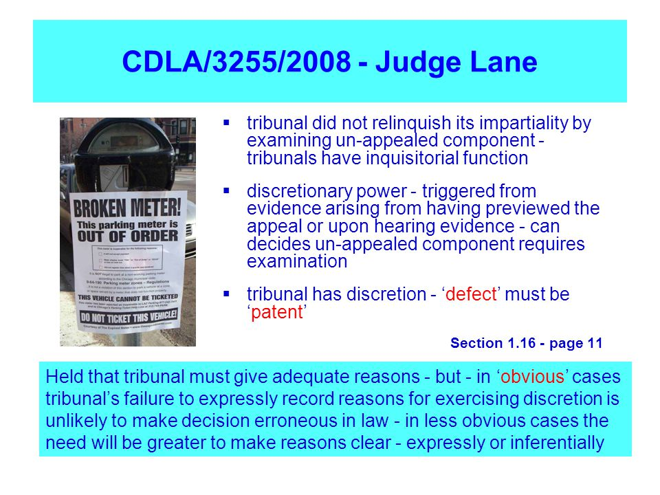 CDLA/3255/2008 - Judge Lane tribunal did not relinquish its impartiality by examining un-appealed component - tribunals have inquisitorial function.