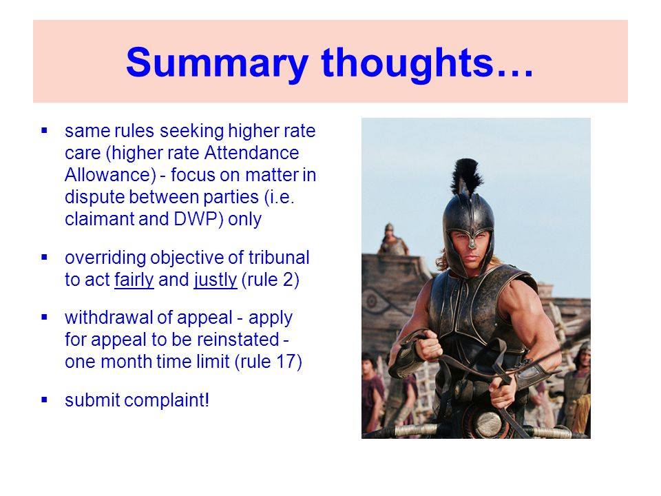 Summary thoughts…