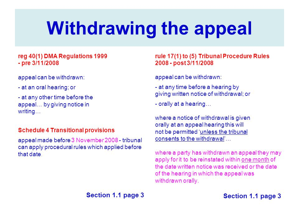 Withdrawing the appeal
