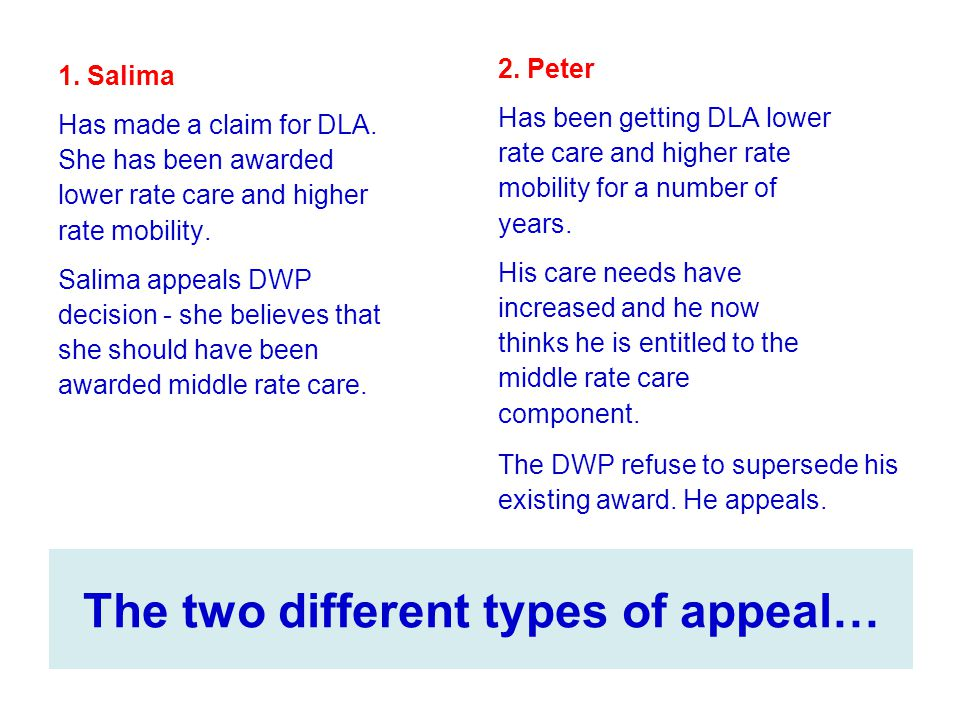 The two different types of appeal…