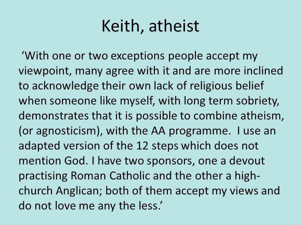 Keith, atheist