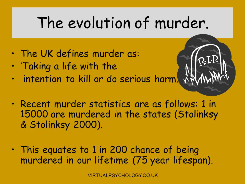 The evolution of murder.