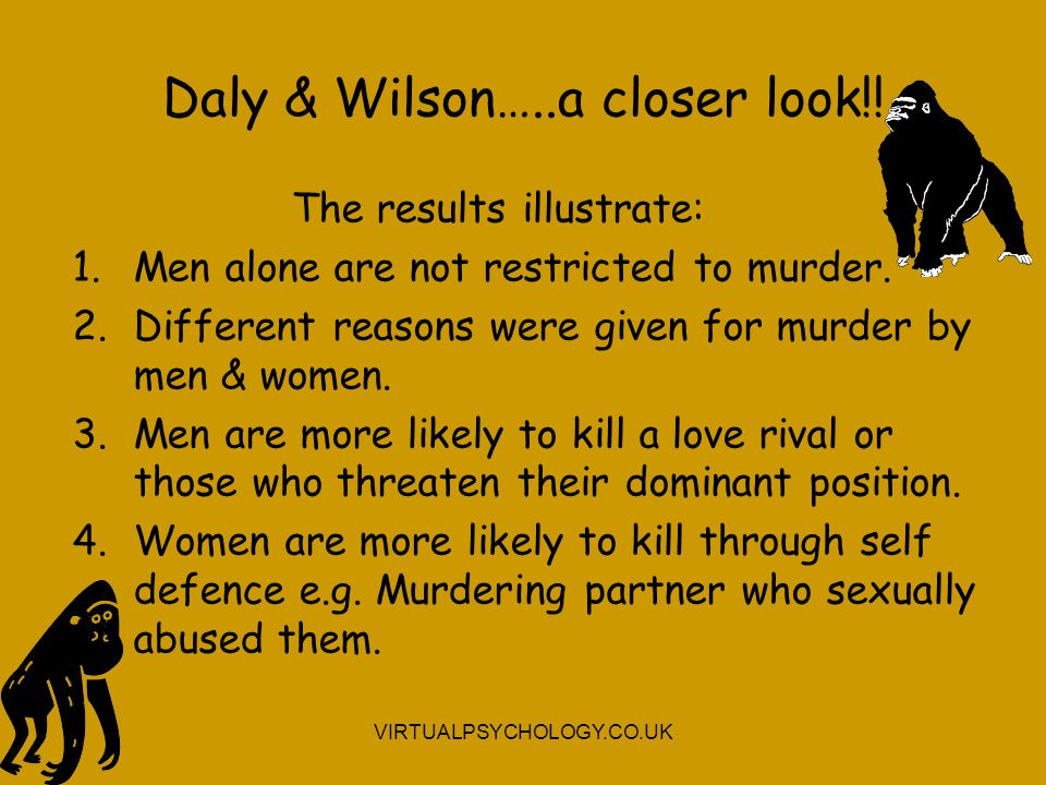 Daly & Wilson…..a closer look!!