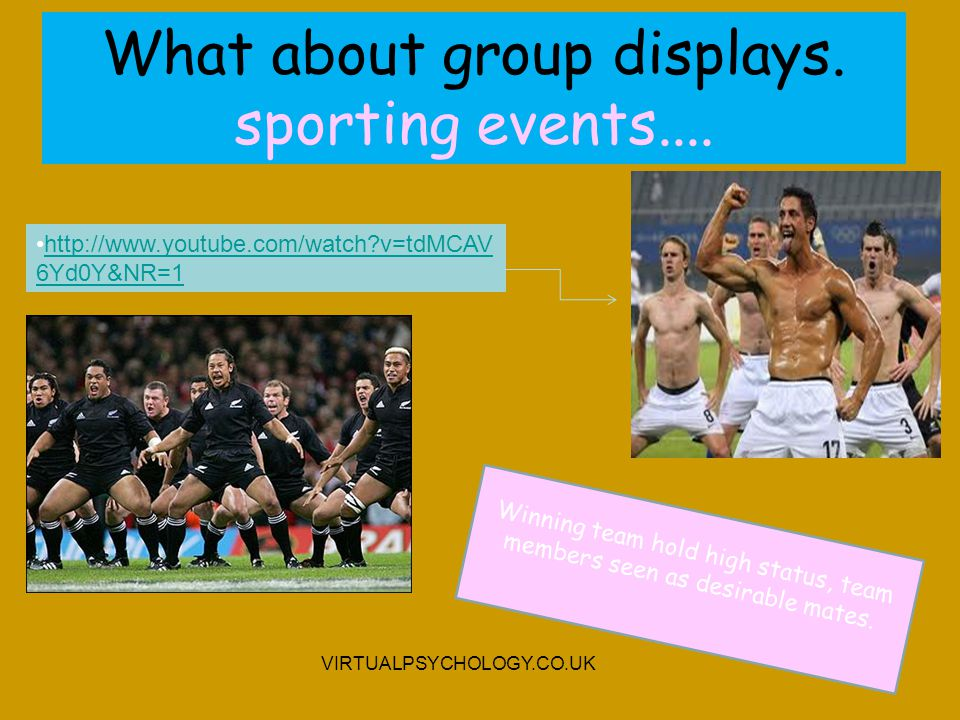 What about group displays. sporting events....
