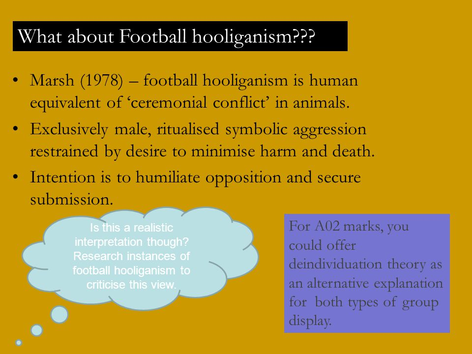 What about Football hooliganism
