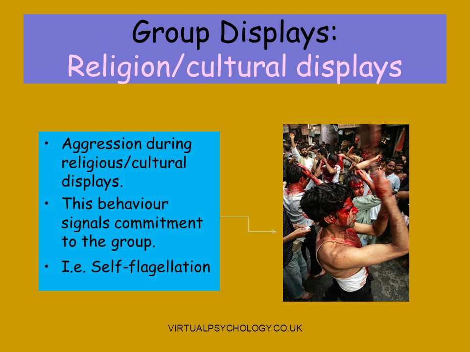 Group Displays: Religion/cultural displays