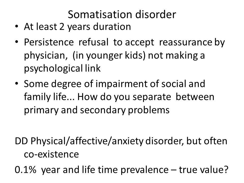 Somatisation disorder