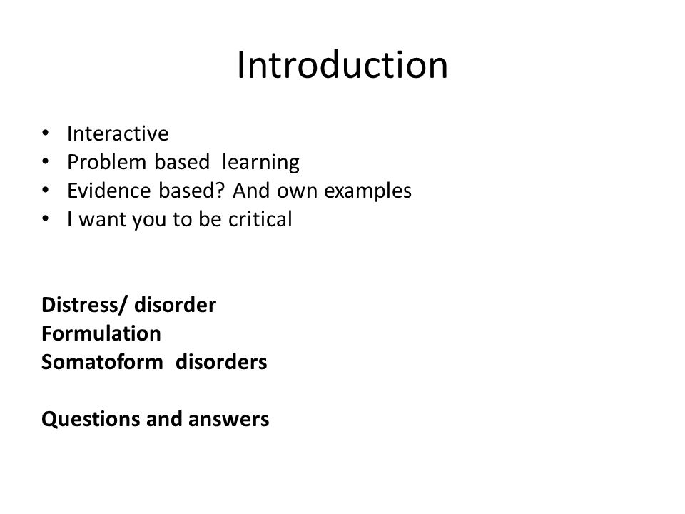 Introduction Interactive Problem based learning