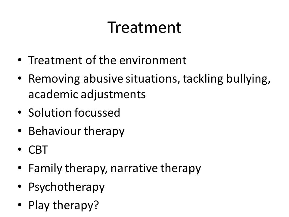 Treatment Treatment of the environment
