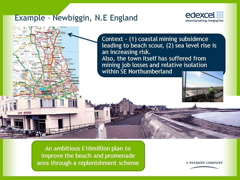 Example – Newbiggin, N.E England