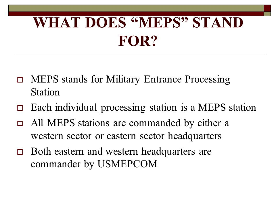 WHAT DOES MEPS STAND FOR