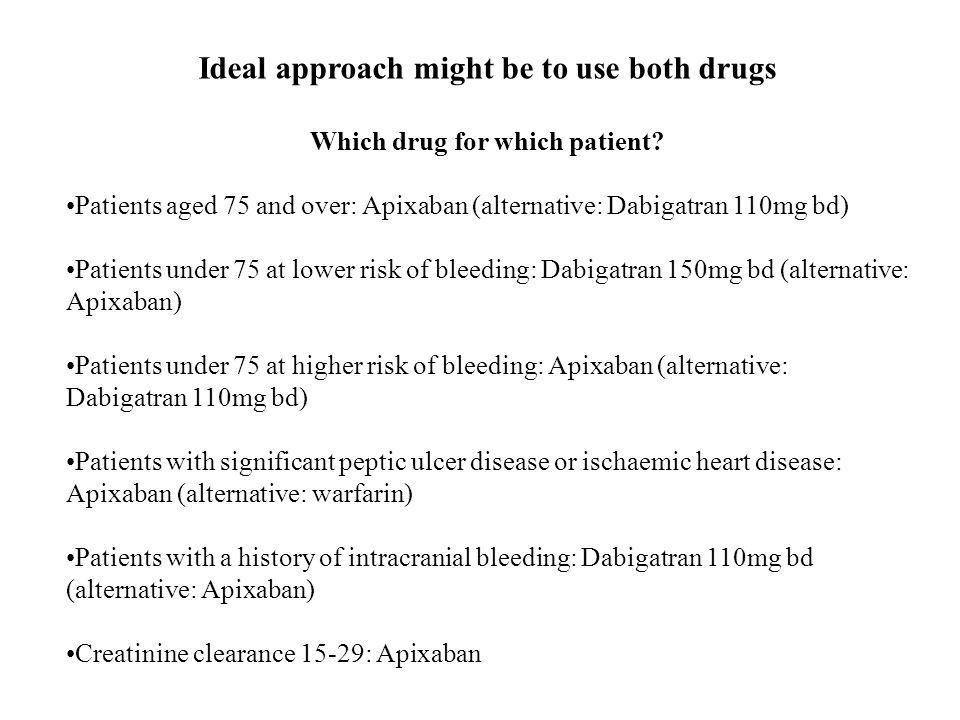 Ideal approach might be to use both drugs