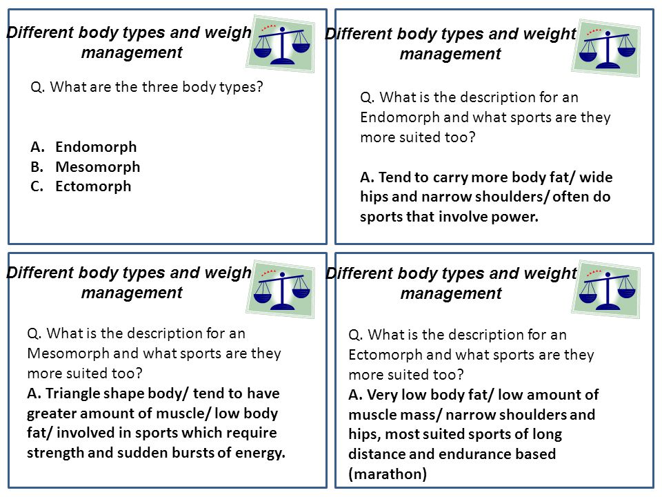 Different body types and weight management