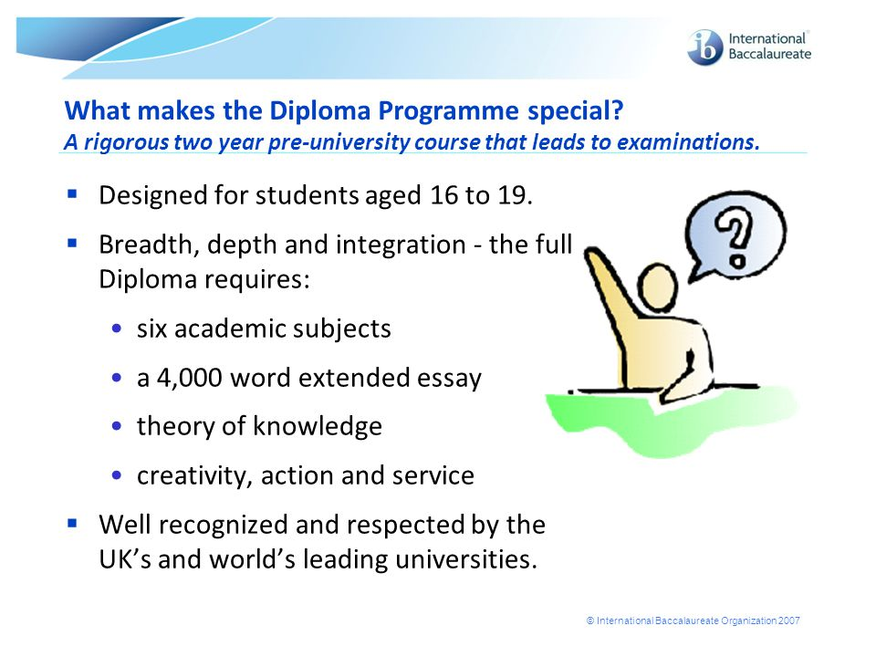 What makes the Diploma Programme special