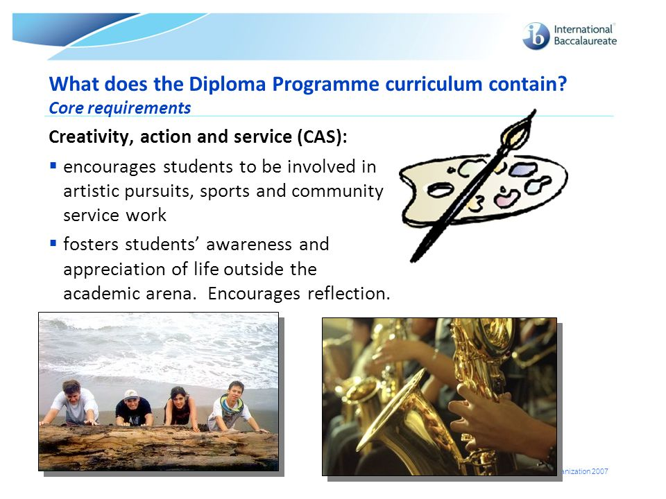 What does the Diploma Programme curriculum contain Core requirements