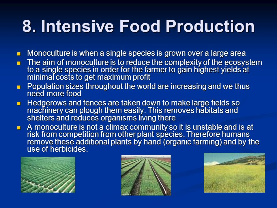 8. Intensive Food Production