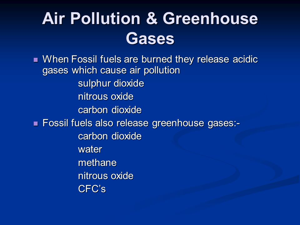 Air Pollution & Greenhouse Gases
