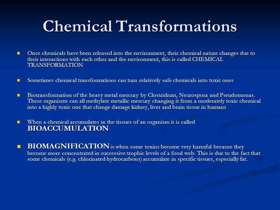 Chemical Transformations