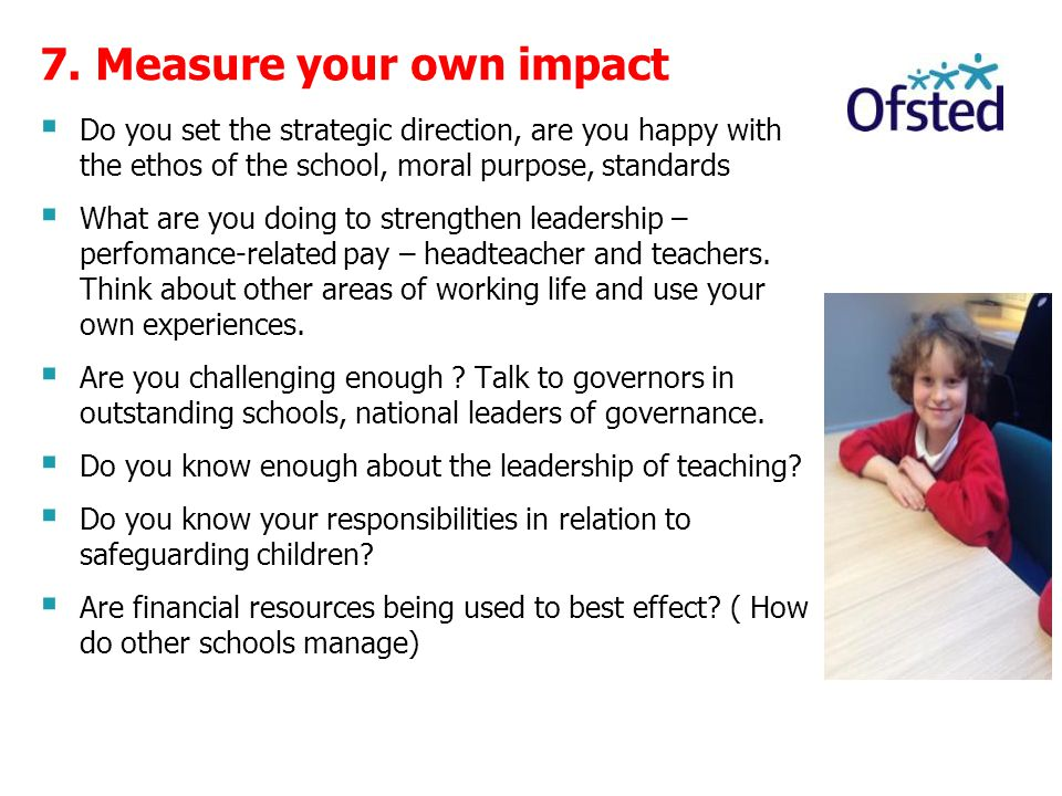 7. Measure your own impact